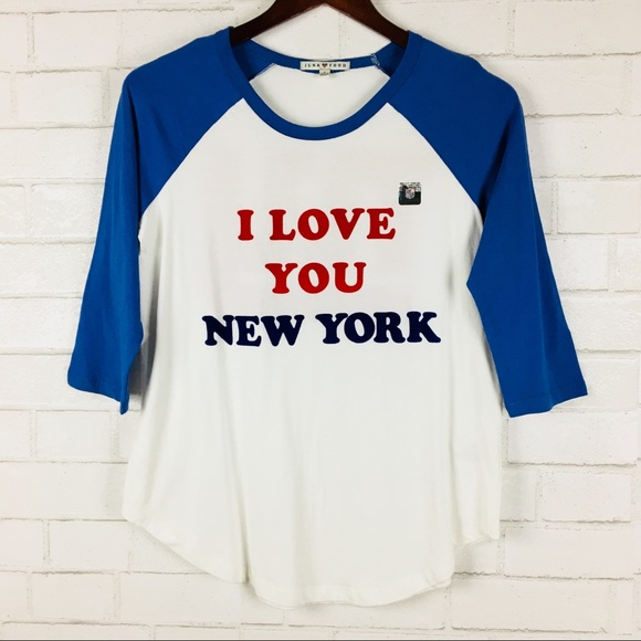 low priced 14246 2a1a5 Junk Food I Love You New York Giants Baseball Tee